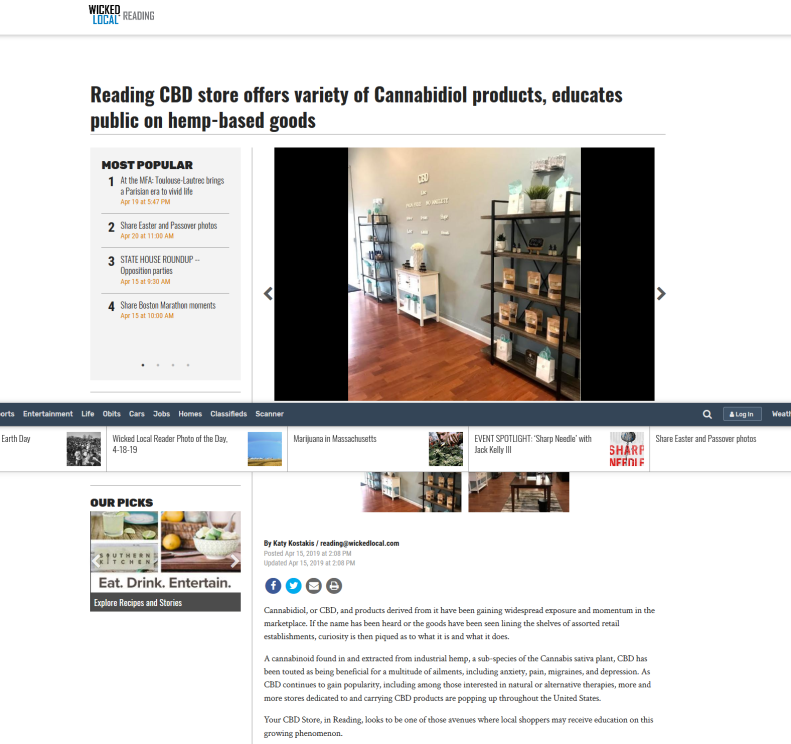 Screenshot_2019-04-21 Reading CBD store offers variety of Cannabidiol products, educates public on hemp-based goods