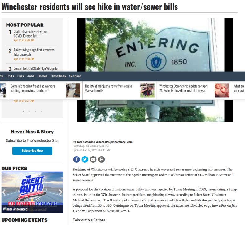 Screenshot_2020-04-21 Winchester residents will see hike in water sewer bills(1)
